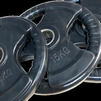 Zestaw obciążeń olimpijskich gumowanych economy 80 kg