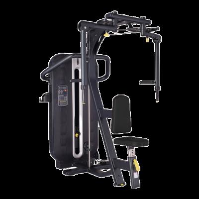 Maszyna na klatkę i plecy dwufunkcyjna ze stosem 2 w 1 Bauer Fitness PLM-640